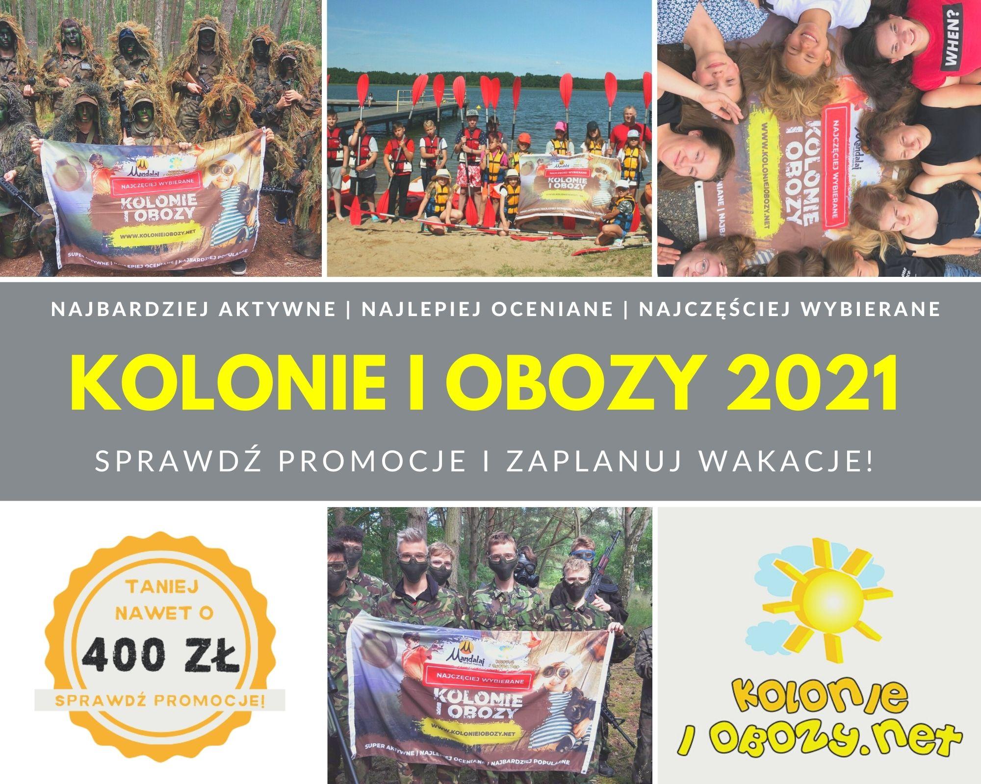 Kolonie Lato 2021 w promocji